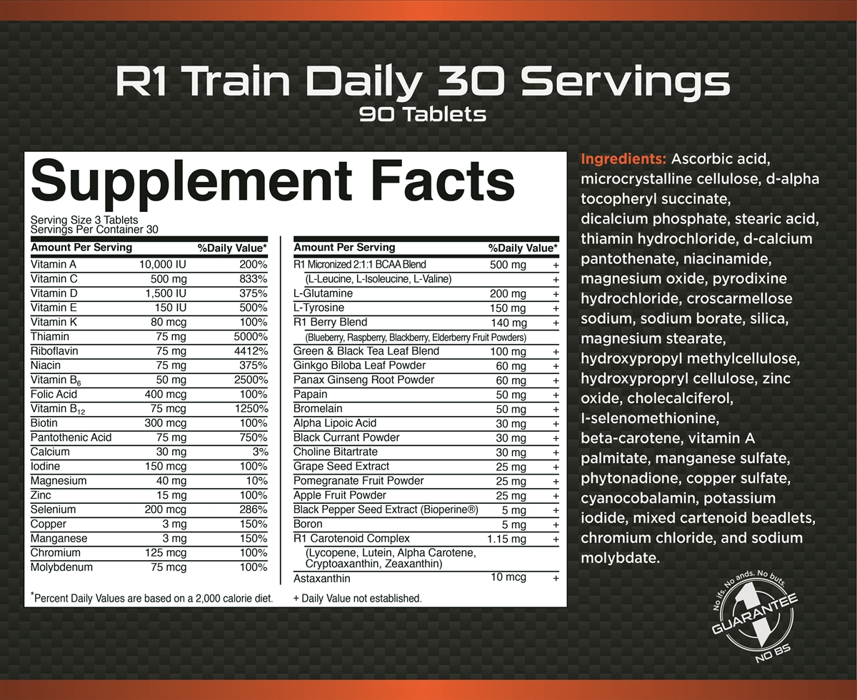 Rule 1 Train Daily™ | 30 порций (90 таб)